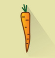 carrot flat design icon vector image vector image