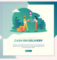 cash on delivery vector image vector image