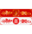 chinese dragon and phoenix vector image