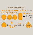 collection of cute cartoon monster and vector image
