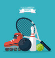 colorful background of healthy lifestyle sports vector image vector image