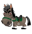Dark stallion with red eyes cartoon character vector image