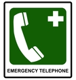 Emergency hospital telephone safety signs vector image vector image