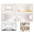 empty room wall sunlight falling vector image vector image