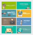 Flat web infographics concept banners for business vector image