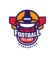 football championship logo template american vector image vector image