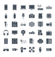 gadgets solid web icons vector image