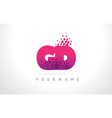 gd g d letter logo with pink purple color and vector image vector image