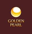 golden pearl - logo for jewelry store vector image