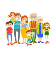 happy extended caucasian smiling family vector image