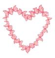 heart made of butterflies vector image