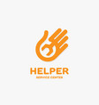 helper logo vector image