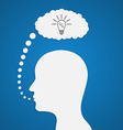 Human head with idea concept vector image vector image