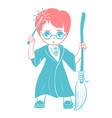 icon of a wizard boy vector image vector image