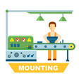industrial mounting isolated concept vector image vector image