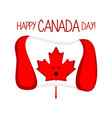 isolated flag of canada happy canada day vector image