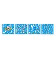 isometric set 3d module block district part vector image vector image