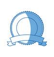 label badge ribbon banner decoration blank emblem vector image vector image