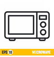 line icon microwave vector image vector image