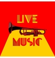 live music trumpet yellow and red 2 vector image vector image