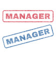 manager textile stamps vector image vector image