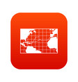 map trips of columbus icon digital red vector image vector image