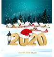 merry christmas and new year holiday background vector image