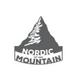 monochrome vintage emblem of mountain vector image vector image