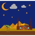 Mosque On Sand Dunes vector image