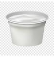 open round yogurt mockup realistic style vector image vector image