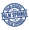 palm springs blue round grunge stamp vector image