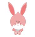 pink cute baby rabbit vector image