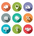 Real Estate Deal flat icon collection vector image vector image