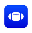 rugby ball icon digital blue vector image vector image