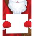 santa postman blank vector image vector image