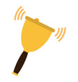 school hand bell icon vector image