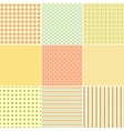 set nine geometric seamless patterns vector image