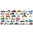 set transportation vehicle vector image