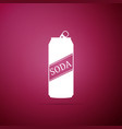 soda can icon isolated on purple background vector image vector image