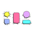 speech bubble set chat message vector image vector image
