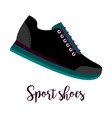 sport shoes icon with text vector image vector image