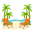 summer beach sea shore travel tropical paradise vector image vector image