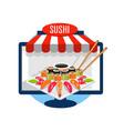 sushi order online vector image