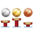 Three medals for balance beam vector image vector image