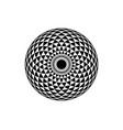 torus yantra hypnotic eye sacred geometry logo vector image vector image
