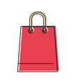 Trapezoid shopping bag icon with handle in
