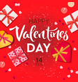 valentines day banner background with realistic vector image