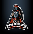 warrior spirit roman warrior logo vector image vector image