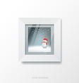White frame and merry christmas picture vector image vector image