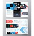 Tri fold Brochure Flyer design layout template vector image